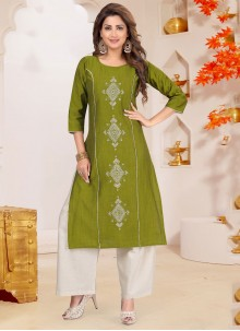 Embroidered Palazzo Salwar Suit