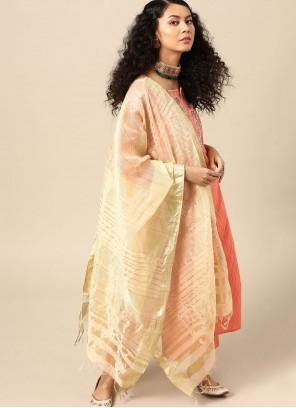 Embroidered Party Bollywood Orange Salwar Kameez