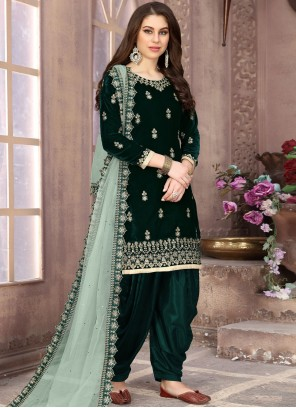 Embroidered Party Designer Patiala Suit