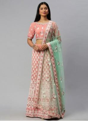 Embroidered Pink Lehenga Choli