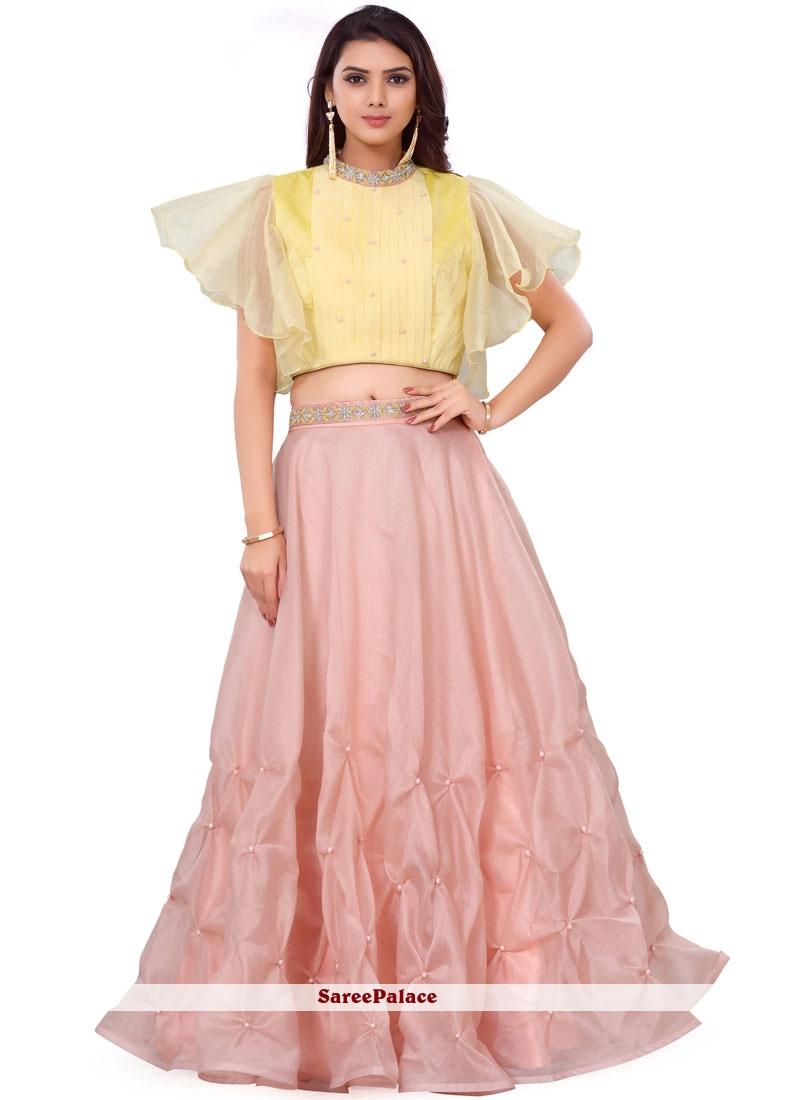 f72f3c7c65 Buy Embroidered Pink Readymade Lehenga Choli Online