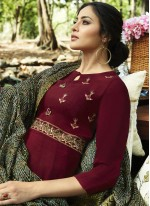 Embroidered Rayon Party Wear Kurti