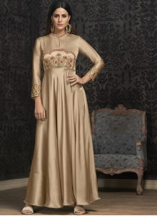 Embroidered Readymade Gown