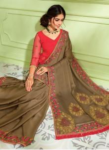 Embroidered Reception Classic Designer Saree