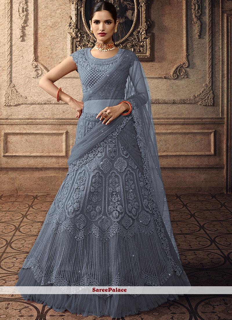 Embroidered Reception Trendy A Line Lehenga Choli