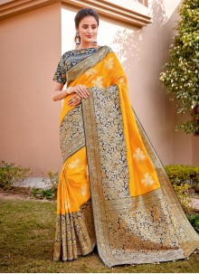 Embroidered Reception Trendy Saree