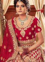 Embroidered Red Lehenga Choli