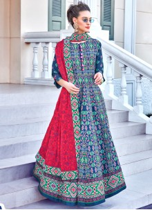 Embroidered Multi Colour Sangeet Designer Gown