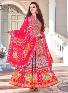 Multi Colour Embroidered Sangeet Trendy Gown