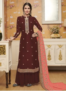 Embroidered Silk Salwar Suit