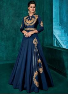 Embroidered Silk Trendy Anarkali Salwar Kameez