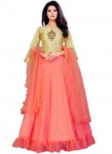 Embroidered Silk Trendy Designer Lehenga Choli