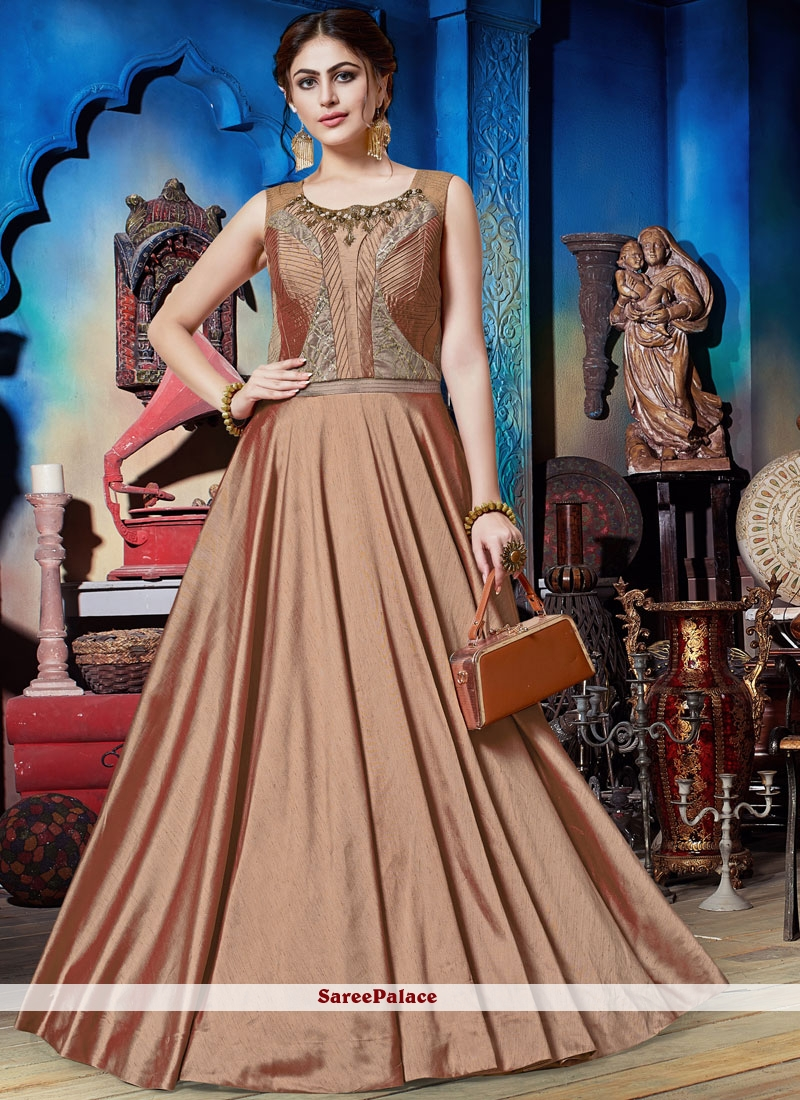 Embroidered Trendy Gown