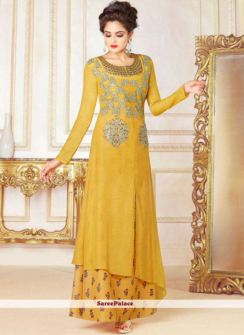 Embroidered Work Fancy Fabric Designer Suit