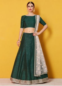 Embroidered Work Green Lehenga Choli