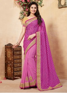 Embroidered Work Half N Half  Saree