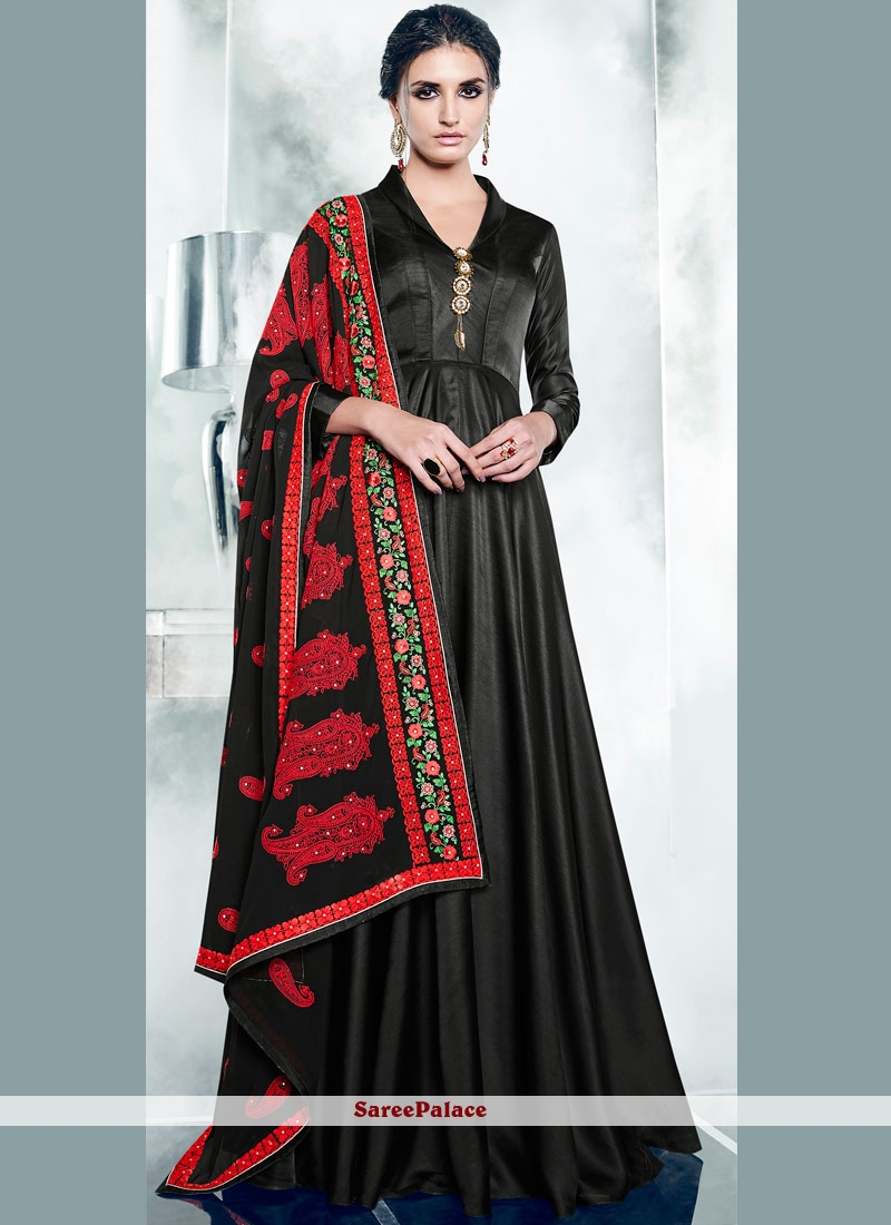 Embroidered Work Readymade Anarkali Suit