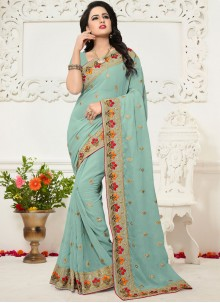 Embroidered Work Saree