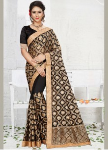 Enchanting Patch Border Work Saree
