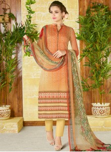 Energetic Cotton   Churidar Designer Suit