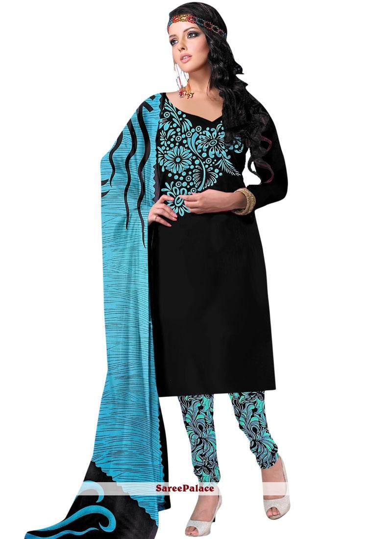 Energetic Printed Work Work Churidar Salwar Suit