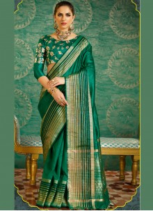 Especial Green Designer Saree
