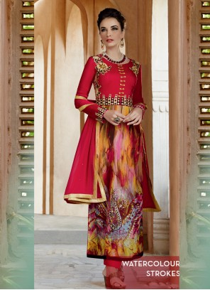 Ethnic Print Work Salwar Suit