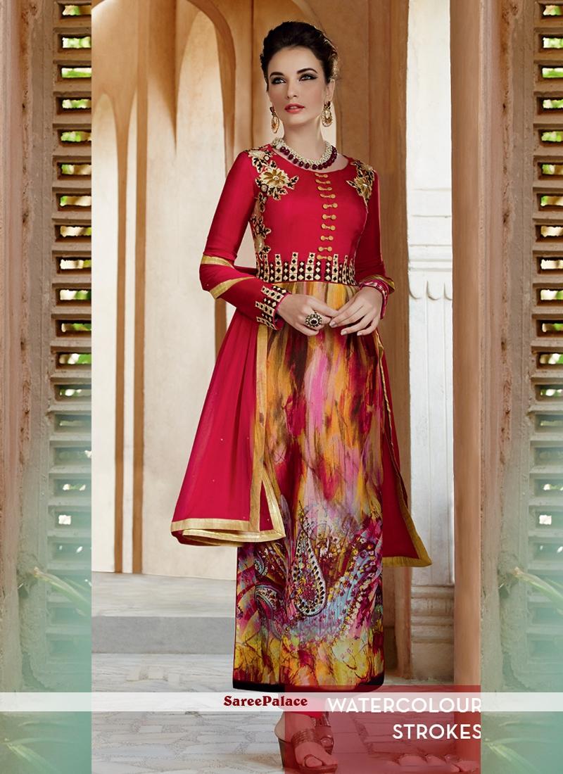 Ethnic Print Work Salwar Suit