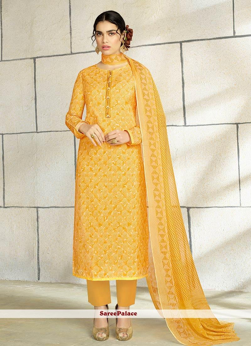 dbff187391 Buy Ethnic Yellow Embroidered Work Designer Palazzo Salwar Kameez Online