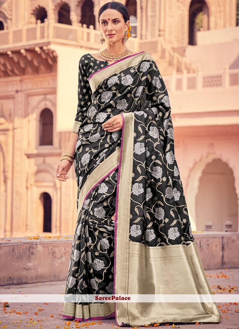 Exceeding Weaving Work Art Silk Designer Traditional Saree