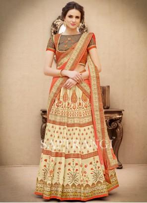 Excellent Art Silk Multi Colour Lehenga Choli