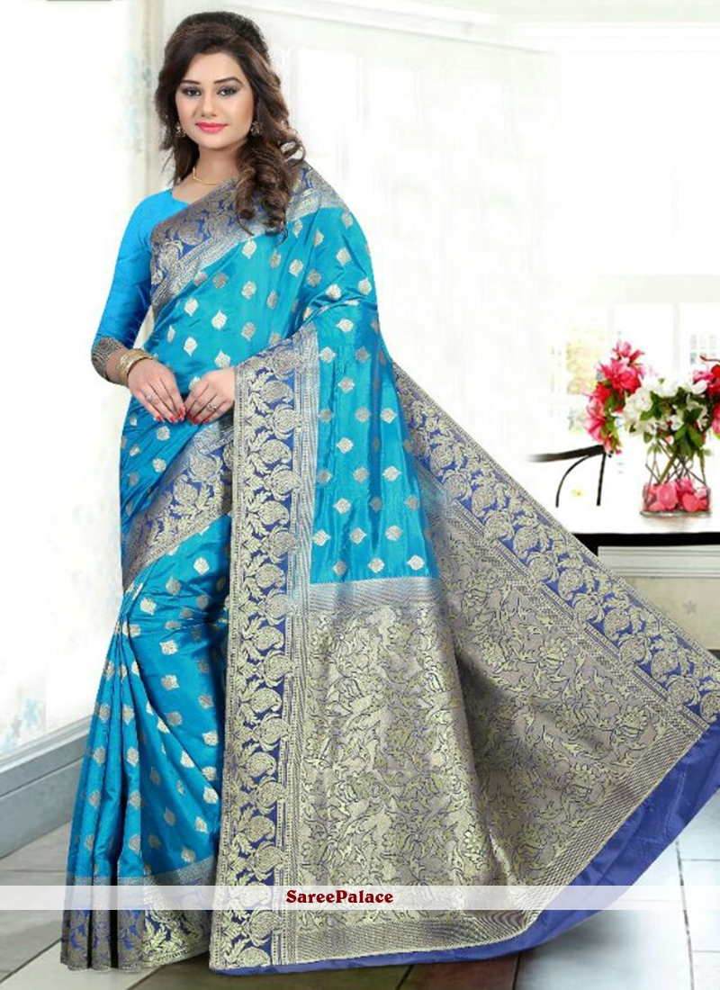 Exciting Banglori Silk Weaving Work Traditional Designer Saree