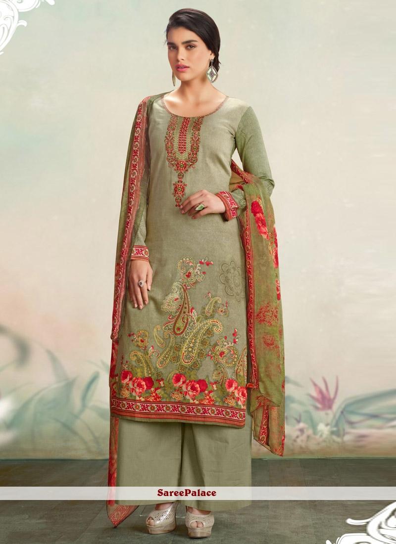 f860647f38 Buy Exciting Cotton Satin Print Work Designer Palazzo Salwar Suit Online