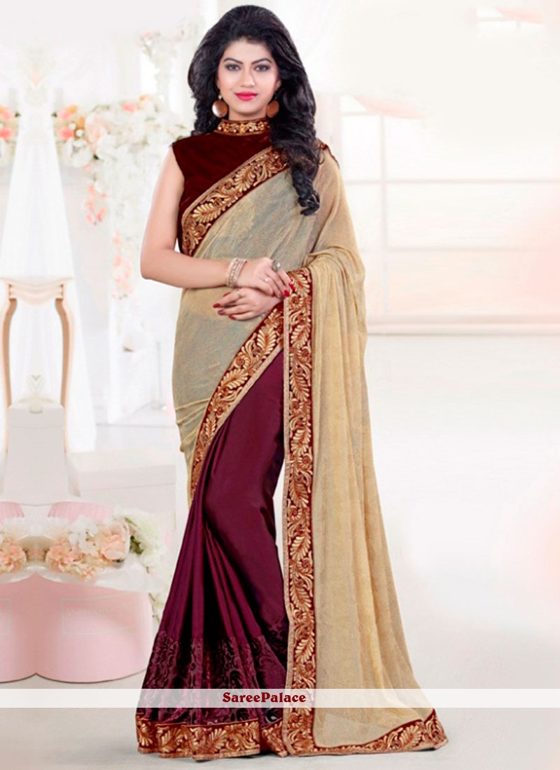 Exotic Patch Border Work Classic Designer Saree