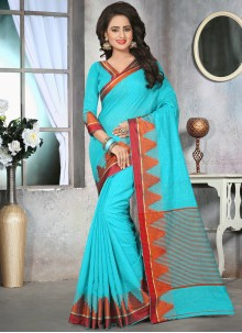 Extraordinary Cotton   Thread Work Classic Designer Saree