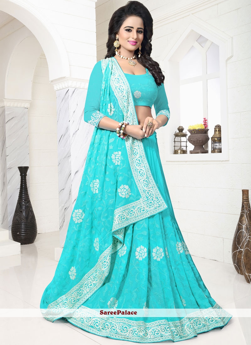 Extraordinary Faux Georgette Embroidered Work Classic Saree