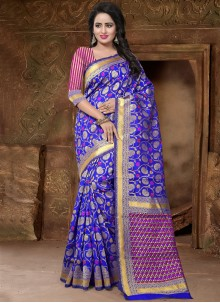 Exuberant Blue Traditional Designer Saree