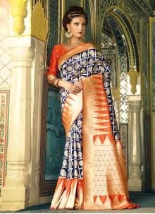 Exuberant Blue Traditional  Saree