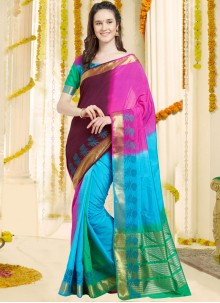 Eye-Catchy Art Silk Traditional  Saree