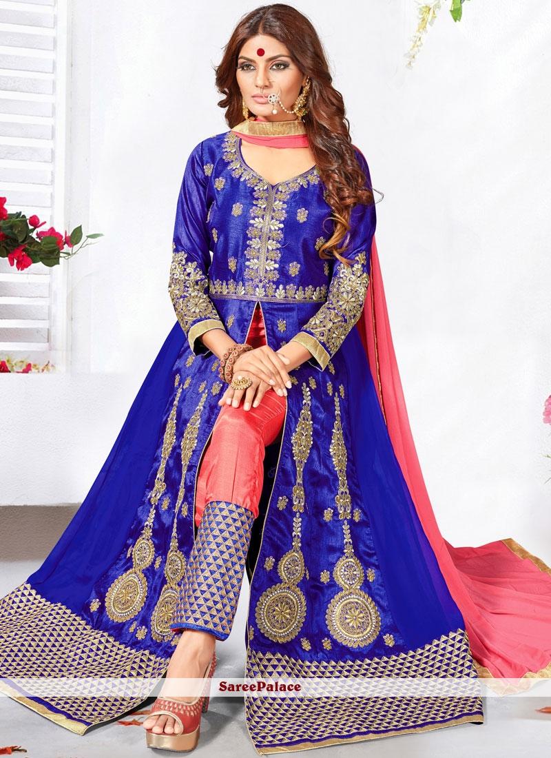 Eye-Catchy Faux Georgette Anarkali Salwar Kameez