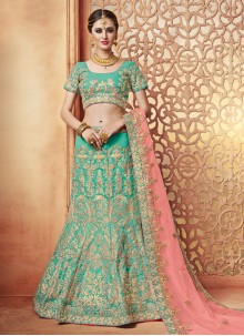 Eye-Catchy Sea Green Lehenga Choli