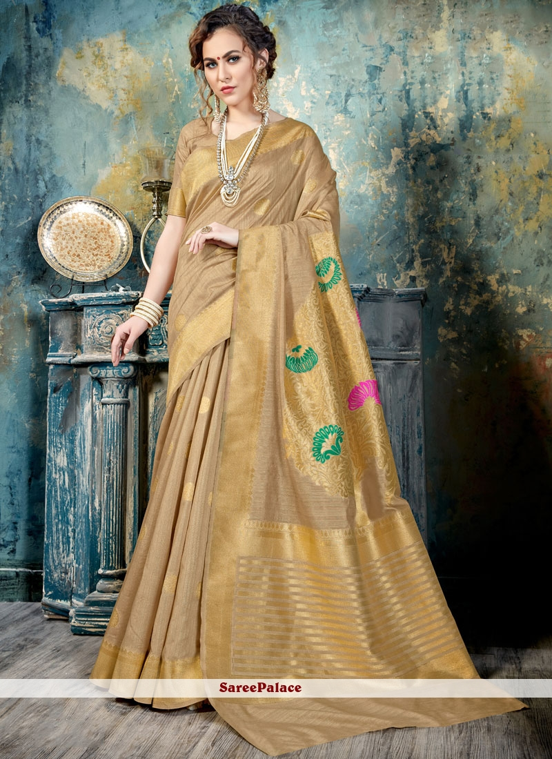 Fab Abstract Print Work Traditional  Saree