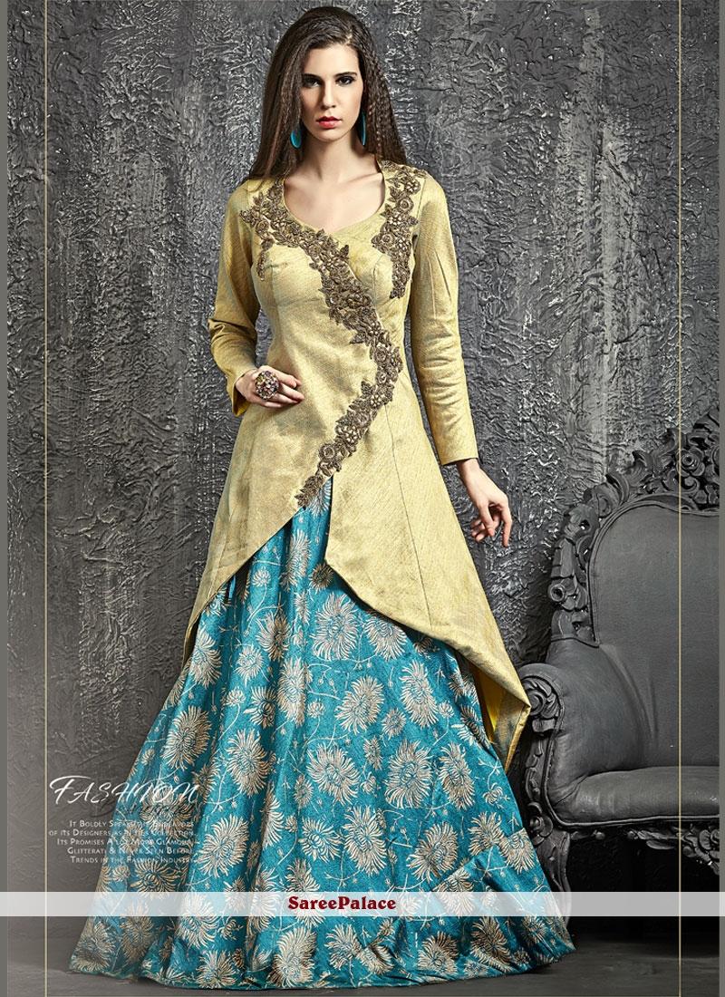 Fab Banarasi Silk Zari Work Lehenga Choli