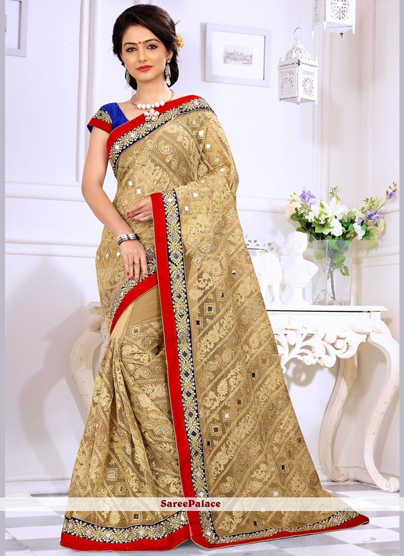 Fab Embroidered Work Classic Saree
