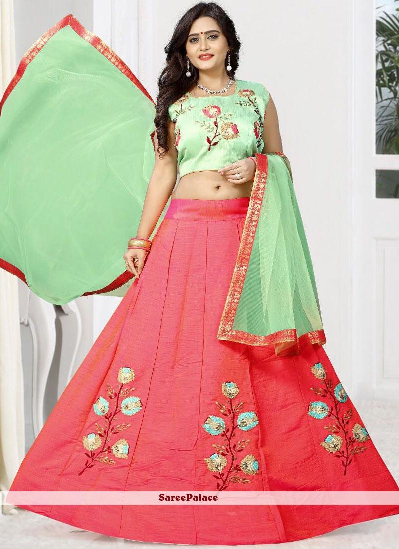 d314ca8059 Buy Fab Embroidered Work Pink Designer Lehenga Choli Online