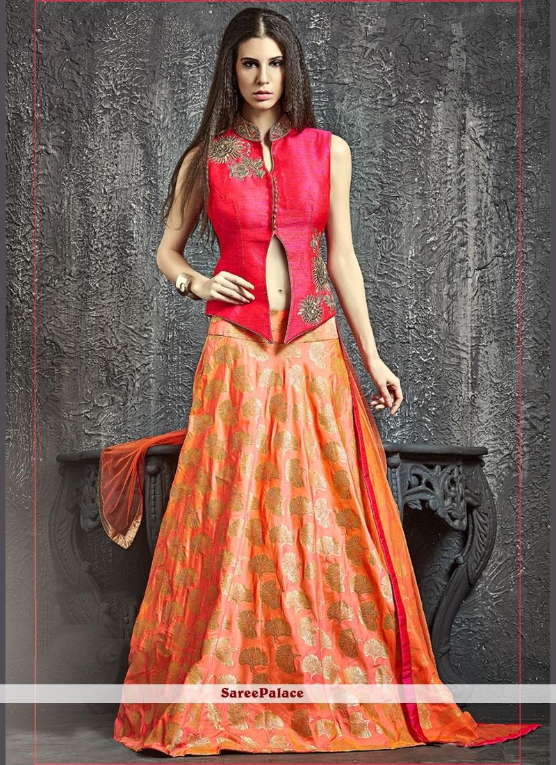 59eba823ec Buy Fab Raw Silk Lehenga Choli Online