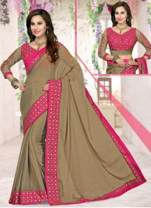 Fabulous Georgette Lace Work Saree