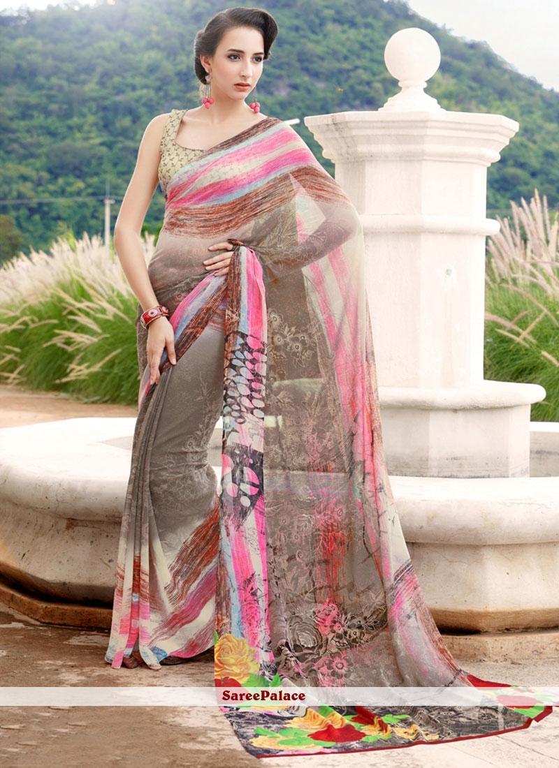Fabulous Multi Colour Printed Saree