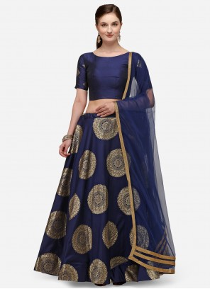 Fancy Banarasi Silk Lehenga Choli in Blue