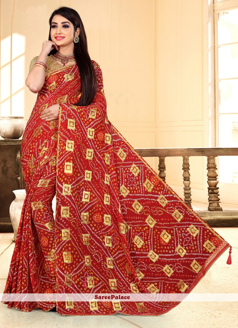 Maroon Fancy Classic Designer Saree